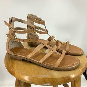 Seychelles aim high Tan leather gladiator sandals